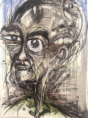 Face Forgotten soul screaming (Lincoln Beddoe) Tags: art portraits mixed media drawing mixedmedia military surreal charcoal expressionist portmacquarie warart charcoaldrawings surrealportrait charcoalportrait expressiveportrait portmacquariephotographer portmacquarieartist facesforgotten