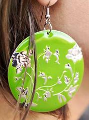 Glimpse of Malibu Green Earrings K1 P5810A-3
