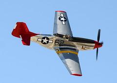 N151BP in flight (John W Olafson) Tags: fighter mustang warbird p51d palmspringsairmuseum tuskegeeairmen n151bp rcaf9273 usaaf4474908 redtailsquadron