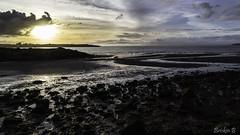 Berkeley Shoreline (Briskin B.) Tags: sunset sea mer water clouds evening berkeley rocks eau pierre shoreline cte nuages soir reflets coucherdesoleil cailloux courbes curvs
