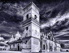 La Merced Cathedral, Granada, Nicaragua, Central America (Jorge Marco Molina) Tags: blue sky church yellow statue catholic historical baroque iglesiadelamerced centralamerica spaniards newworld baroquefacade colonical virgenoffatima