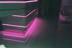 .reflects (strngr) Tags: pink film analog 35mm photography lights neon glow kodak lofi infinite reflects strngr strangxx
