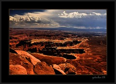 depressions (the Gallopping Geezer '4.8' million + views....) Tags: park red brown nature canon landscape utah nationalpark scenery view scenic roadtrip canyonlands moab redrock 2008 geezer rockformations corel