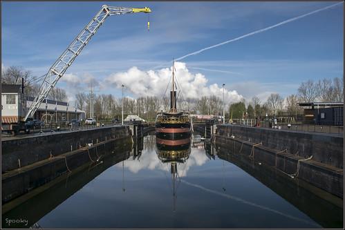 """Hellevoetsluis - Droogdok Jan Blanken en De Buffel • <a style=""""font-size:0.8em;"""" href=""""http://www.flickr.com/photos/126463948@N07/16246573018/"""" target=""""_blank"""">View on Flickr</a>"""