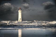 Perch Rock lighthouse (pentlandpirate) Tags: beach waves wirral newbrighton merseyside perchrocklighthouse