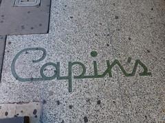 Nogales, AZ Capin's terrazzo (army.arch) Tags: arizona sign nogales az terrazzo capins