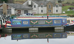 Forth Clyde Canal Auchinstarry (hollabb) Tags: scotland north basin boathouse barge lanarkshire forthandclydecanal auchinstarry