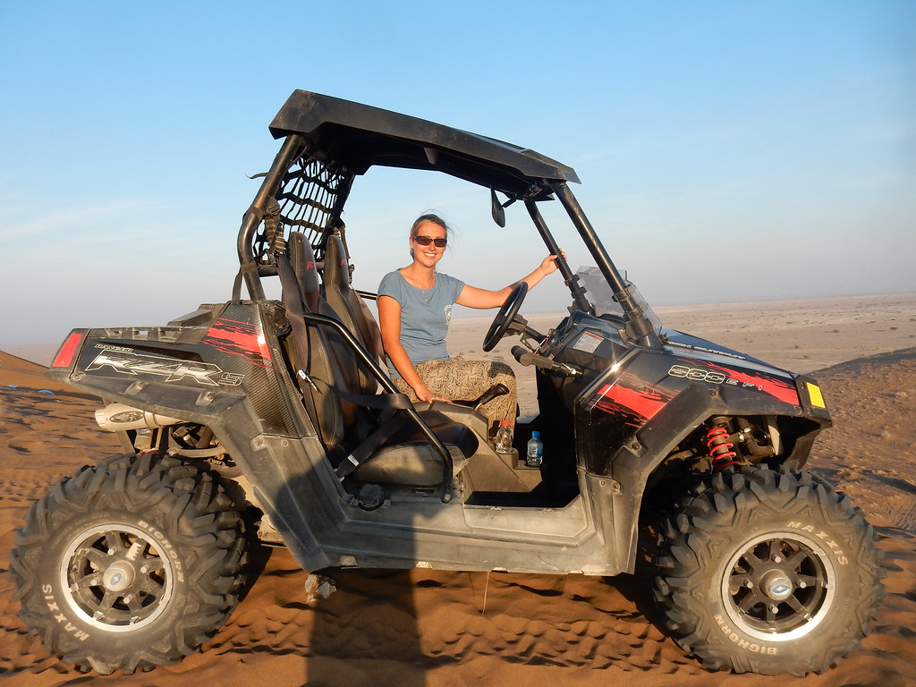 Driving the dune buggy