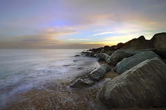 Jaywick Beach Rocks! Sunset in Essex, UK (davebyford01) Tags: sunset beach coast rocks shoreline essex jaywick davebyfordphotographycouk