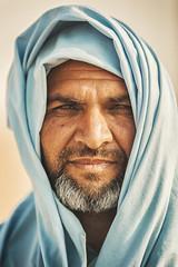 Desert Man .. (Almsaeed) Tags: blue portrait green colors face scarf canon sand desert uae sigma moment sheba nad bedwen