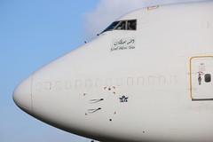 Saudia Arabian Cargo Boeing 747-400F (AMSfreak17) Tags: amsterdam airport quebec cargo saudi boeing arabian schiphol ams eham taxiway 747400f amsfreak17 tcacg