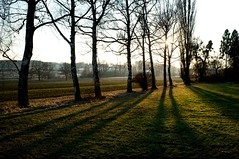 Der Winter geht (stefandinkel) Tags: winter sky sun white snow green germany landscape bavaria spring primelens fujix100 wagelsried stefandinkel