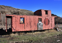 Abandoned - Caboose - Eastern Oregon (Electric Crayon) Tags: railroad usa rot abandoned oregon america train unitedstates decay caboose pacificnorthwest wallowa americanwest oldwest easternoregon patrickmcmanus electriccrayon