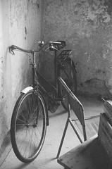Bicycle (jbpearse_photography) Tags: blackandwhite bicycle 35mm kodak 35mmfilm kodakbw400cn retina kodakretina2atype150 joelpearse kodakretinaiiatype150 jbpearsephotography