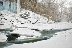 Blue icicles (debbie_dicarlo) Tags: winter white snow cold ice nature gorge crystalpalace icesheets deepfreeze cuyahogariver