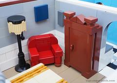 master bedroom (Super*Junk) Tags: lego minifigure moc afol legotown legocity legomoc modularbuilding legoarchitecture legointerior