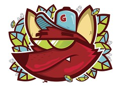 Lobo Guar (Yong Attack) Tags: streetart illustration print poster wolf urbanart lobo vector ilustrao yong guar yongattack