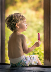 Post Nap Popsicle (kate.millerwilson) Tags: summer child naturallight doorway popsicle