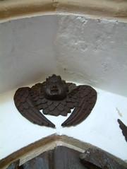 Angelic bat out of hell (Moominpappa06) Tags: stmaryyaxley yaxley suffolk suffolkchurches england uk artforartssake cherub wingedcherub nomoominpappanotabat
