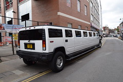 DSC_8139 Brick Lane London White Hummer H2 limo L444HUM (photographer695) Tags: brick lane london white hummer h2 limo l444hum