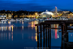 Tacoma-Dome-509-Bridge-A-Blue-Hour-7-16-16 (Rob Green - SmokingPit.com) Tags: city bridge blue 2 green art water colors skyline architecture night speed marina docks canon lens point landscape photography lights harbor pier town washington artwork highway thea downtown slow waterfront view sundown angle pacific northwest outdoor dusk mark vibrant tripod wide down center rob landing ii shore hour dome sound 7d shutter wa inlet tacoma streaks foss puget waterway saltwater 509 theas