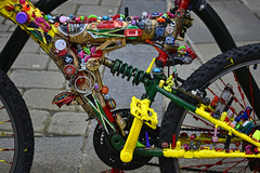 Crazy bike (JEFF CARR IMAGES) Tags: oldham northwestengland towncentres