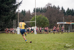 Newechen RC UCT (gegerville) Tags: rugby temuco rugbymasculino rugbychileno azul amarillo arua ovalada chile conversion try patada tie