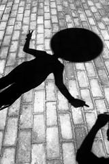 Urban-shadow (fremmanuel) Tags: urban shadow bw blackwhite funny ladfense