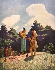 """""""The Burial of Uncas"""" by N. C. Wyeth from """"The Last of the Mohicans"""" by James Fenimore Cooper. NY: Scribner's, 1919. First edition (lhboudreau) Tags: book books hardcover hardcovers hardcoverbook hardcoverbooks vintagebook vintagebooks classicbook classicbooks classicnovel classicstory art artist illustrator illustrated illustration illustrations drawing drawings illustratedbook illustratedbooks illustratedclassics bookart wyeth ncwyeth 1919 illustratedclassic vintageillustration vintageillustrations classicillustrator classicillustrations vintagebookillustrations vintagebookillustration lastofthemohicans mohicans thelastofthemohicans cooper jamesfenimorecooper fenimore uncas frenchandindianwar 1757 nattybumppo hawkeye chingachgook americanindian americanindians nativeamerican nativeamericans indians indian charlesscribnerssons scribners charlesscribners firstedition fiction burial grave gravesite sagamore"""