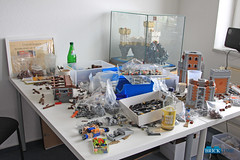 Building Action at TBT Office (THE BRICK TIME Team) Tags: lego building castle moc free storage action