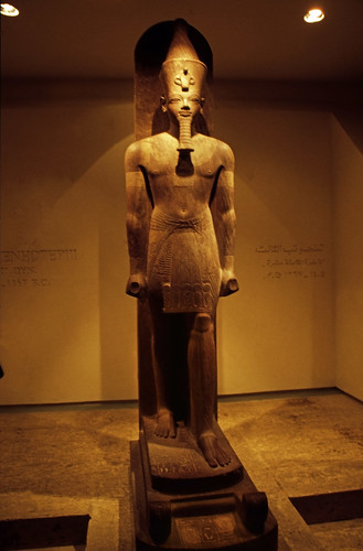 "Ägypten 1999 (274) Luxor-Museum: Statue Amenhotep III. • <a style=""font-size:0.8em;"" href=""http://www.flickr.com/photos/69570948@N04/28449254662/"" target=""_blank"">View on Flickr</a>"
