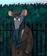 Ratty Sketch (Sparkey Davis) Tags: photoshop painting dawn rat cartoon hedge anthropomorph