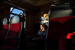 . (www.piotrowskipawel.pl) Tags: ostrwwielkopolski wielkopolskie poland documentary documentaryphotography train railway polishrailways pkp pocig travel passenger publictransport girl light dawn trip pawepiotrowski piotrowskipawelpl