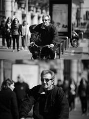 [La Mia Citt][Pedala] (Urca) Tags: milano italia 2016 bicicletta pedalare ciclista ritrattostradale portrait dittico bike bicycle biancoenero blackandwhite bn bw