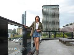 Milan - Piazza Alvar Aalto (Alessia Cross) Tags: crossdresser tgirl transgender transvestite travestito