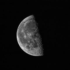 Half & Half (edmason88) Tags: moon halfmoon halfhalf niksilverefexpro2 handheld tamron150600 strathconacounty alberta