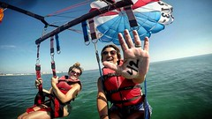 Reaching for Cloud 42 (AngelBeil) Tags: gopro parasail watersports oceancity 42 highfive