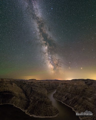 Celestial River (kevin-palmer) Tags: july summer bighorncanyon bighorncanyonnationalrecreationarea montana bighornriver devil canyon cliffs milkyway galaxy night sky stars starry midnight mars saturn nightscape ioptronskytracker longexposure nikond750 tokina1628mmf28 scenic view overlook deep stitch astrometrydotnet:id=nova1667506 astrometrydotnet:status=failed