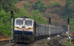 Kalyan WDP4D 40234 with 11003 Dadar Sawantwadi Rajyarani Express (Omkar Sawant) Tags: kalyan wdp4d konkan railway