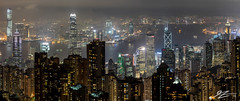 Yet You'll Always Find Me Here (Tim van Zundert) Tags: hong kong island china victoria peak view cityscape skyline landscape city night evening long exposure buildings towers skyscraper dark sony a7r panorama kowloon central sheung wan north point sel55f18z 55mm