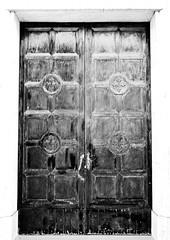 sacred door (marcobertarelli) Tags: door sacre iron geometrical cross close contrast bw material history art medieval