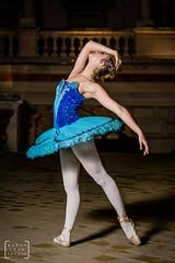 balet dancer in the heart of Budapest #2 (gab.imre) Tags: hungarian girl blue flash art night balet dancer nightshot budapest downtown