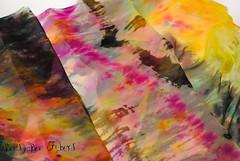 Abstract #1-2 (beesybee) Tags: felting handdyedscarf handdyedsilkfabric nunofeling scarf shibori silkchiffon silkfabric