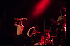 Moses (redrospective) Tags: 2016 20160908 islingtonacademyhall london moses september2016 action audience band black concert crowd fans gig instruments live motion music musicians people red singer spotlights stage