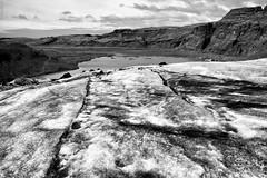 Glacier view (michael.mu) Tags: leica m240 leicasummicron35mmf20asph bwpolarizer iceland landscape blackandwhite bw slheimajkull glacier silverefexpro ice geometry pattern line outdoor