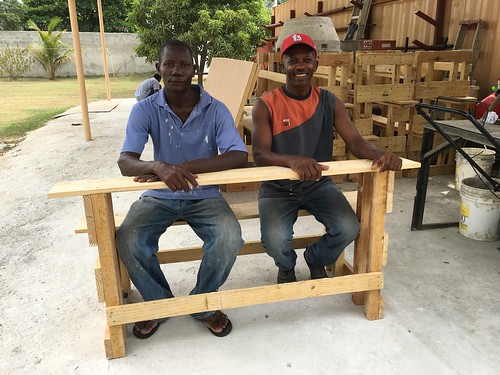 Education...building chalkboards and benches for a brand new school this year.