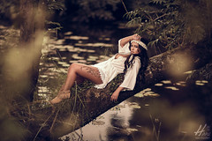 Kristel (Hans van Eijsden) Tags: darkhair portrait sensual longhair glamour day outdoor posing individuality youngadult forest beauty individuals elinchrom model elb400 makeup personality standing female girl lady oneperson outside woman zwolle overijssel netherlands nl