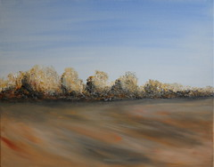 row of trees in acrylic painting (Xtraphoto) Tags: acryl acrylic painting malen kunst art row trees canvas