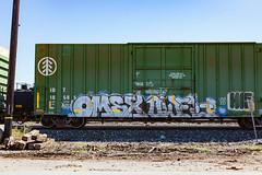 (o texano) Tags: houston texas graffiti trains freights bench benching omex owel