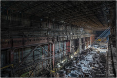 The more chaos, the better ! (Yamabxl) Tags: abandoned abbandonato belgium decay derelict dereliction steelworks acirie industry industrie industrial creepy huge hdr highdynamicrange hidden lostplaces prohibed prohib urbex urbanexploration urbexhdr verfall verlassen verlaten